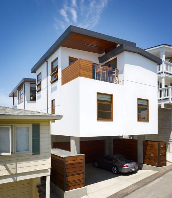 Home Garden Design Ideas Houzz Green Tropical House Small: Modern Tropical House On A Small Lot With A Garden