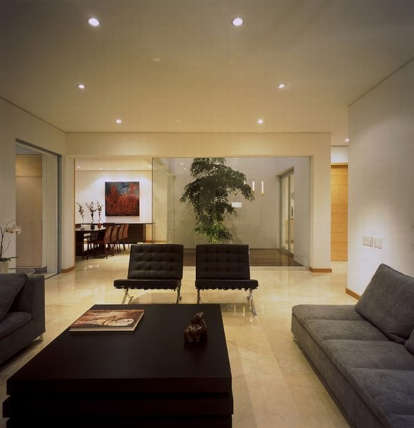 Modern House Design in Guadalajara, Mexico - Interior - Living Room
