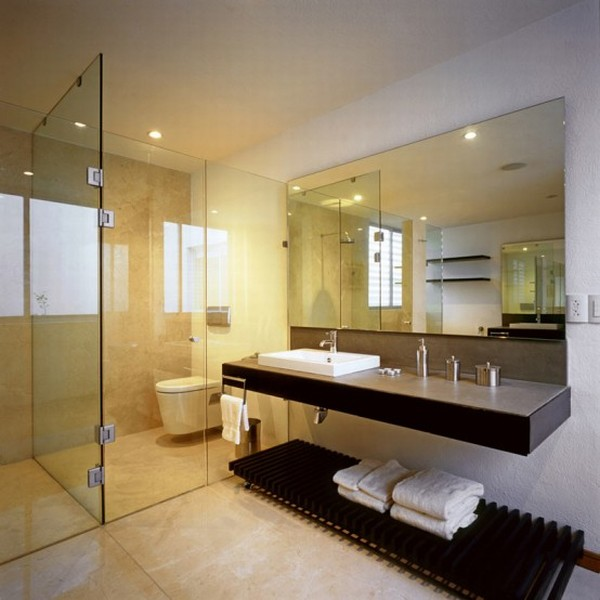 Modern House Design in Guadalajara, Mexico - Interior - Bedroom Bathroom
