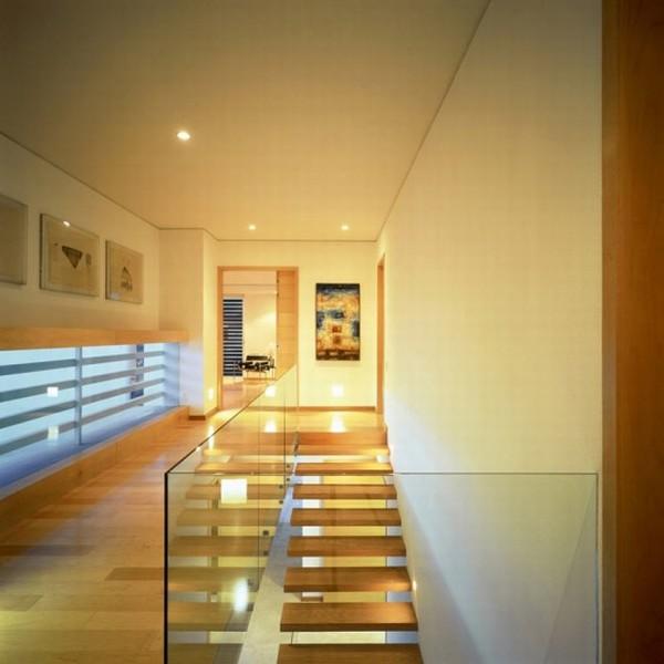 Modern House Design in Guadalajara, Mexico - Interior - Hallway Spotlight