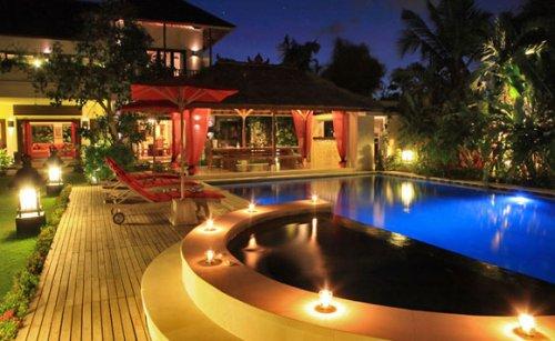 Villa Kalimaya, Bali - in Seminyak - Night view