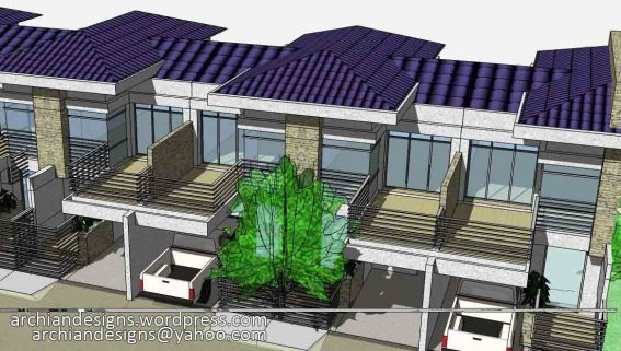 Bacolod - 6 Unit 2-Storey Townhouses Aerial View