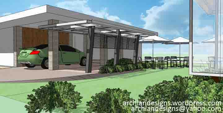 bantilan residence modern garage and house extension just decks inc ipe garage roof deck with steel pergola
