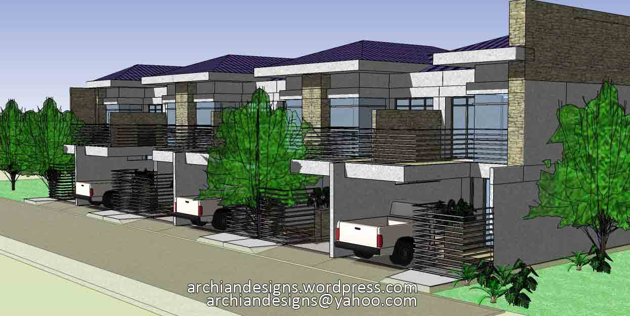 Bacolod house design 6 unit apartment townhouses for Townhouse design