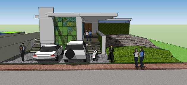 Lubrico Entry Perspective to House Bacolod