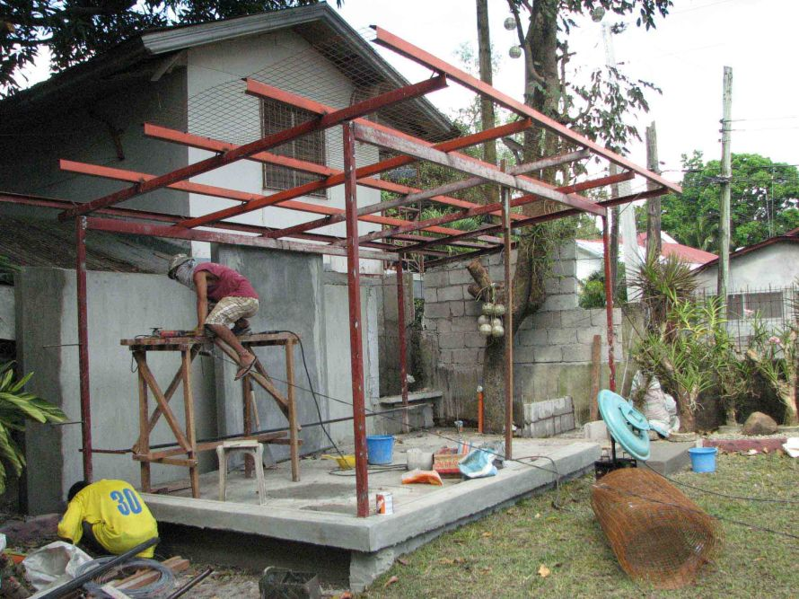 Bacolod Modern House Extension Roof Framing Archian Designs