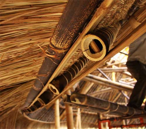 Green School - Bali, Bamboo Details and Ties