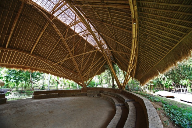 Green-School-Bamboo Hall Roof and Structures
