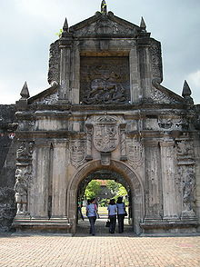 Fort Santiago Gate in Intramuros, Manila