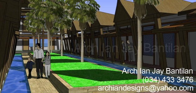 Marharlika Tropical Suites- Resort Hotel Design- Courtyard