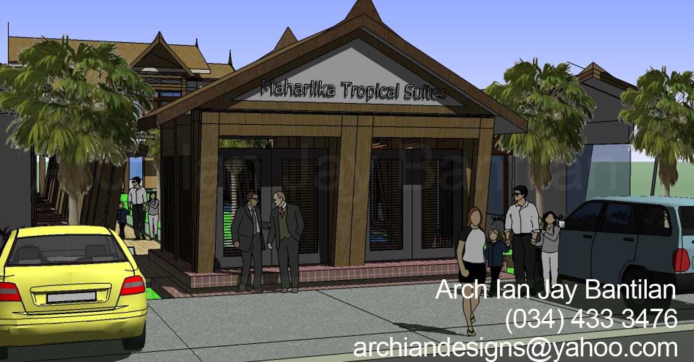 garage roof design archian designs architects in bacolod marharlika tropical suites puwerto princesa front