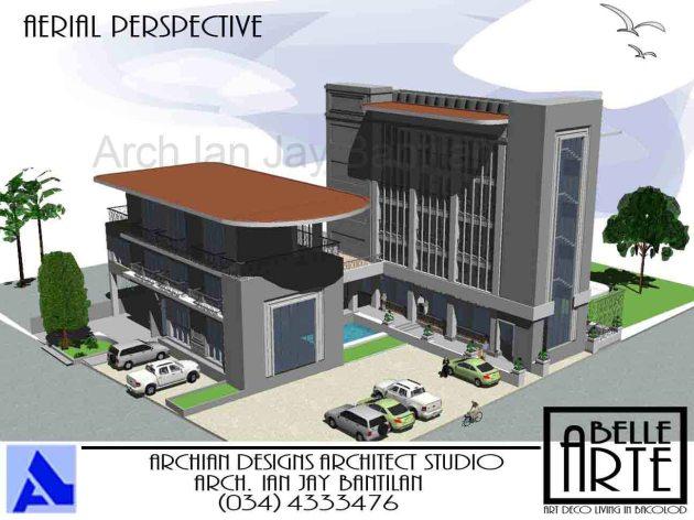 Villanueva Belle Arte Apartments - Bacolod City - Aerial Perspective