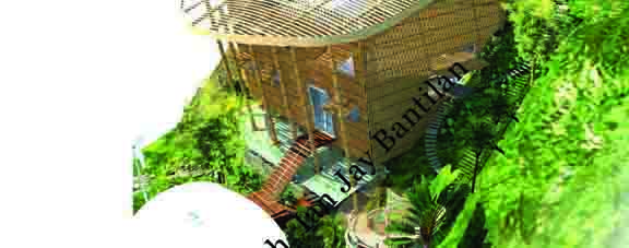 Metrobank Architecture Winner - Modern House Bamboo Perspective