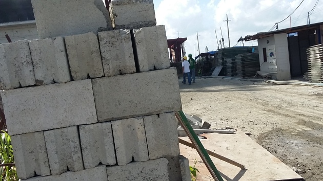 Philippine Building Construction - CHB laying materials