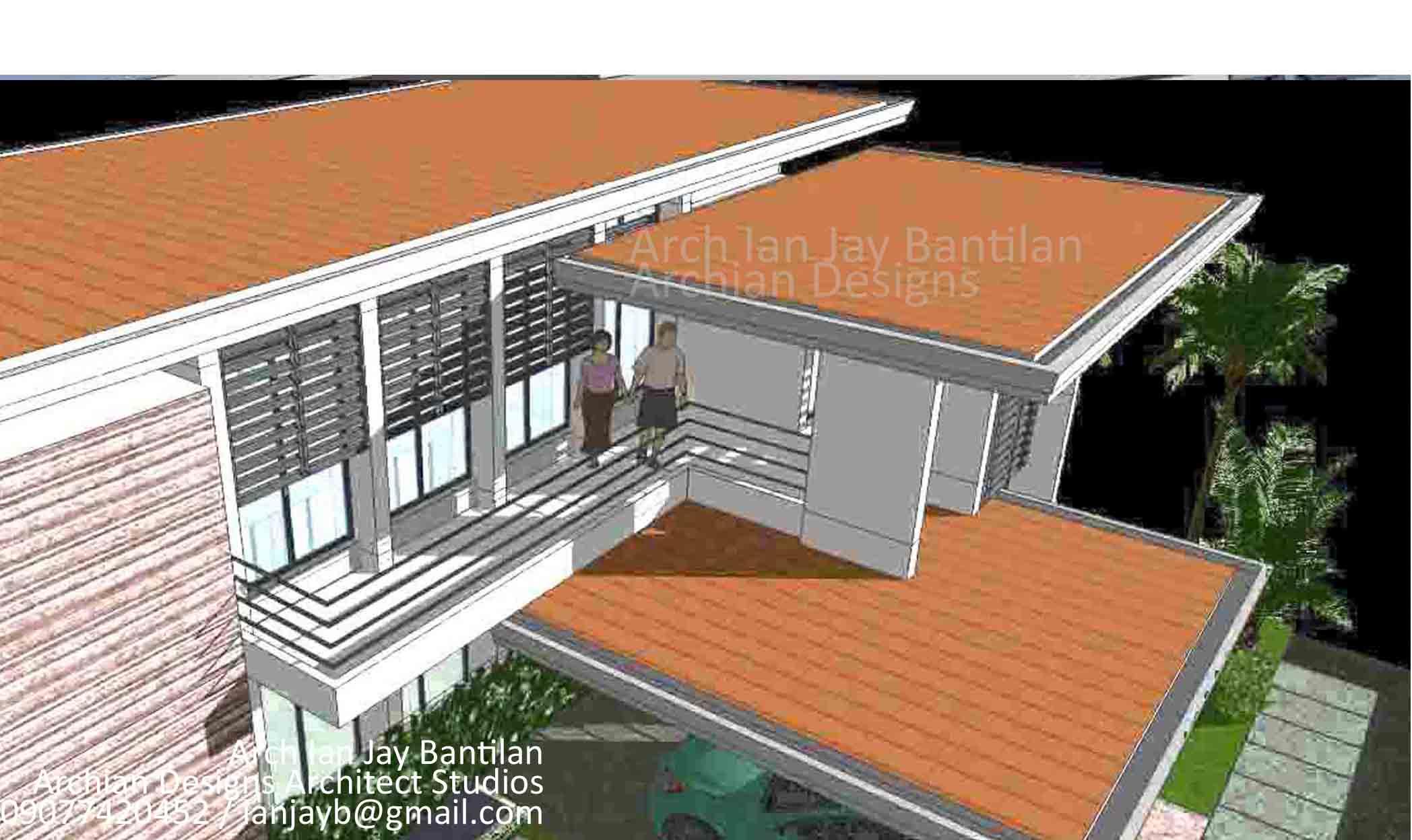 Aerial View - Puerto Real House - Lapaz Iloilo City - Modern Minimalist Architect