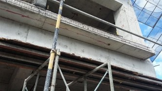 Cast in Place concrete to receive curtain wall (1)