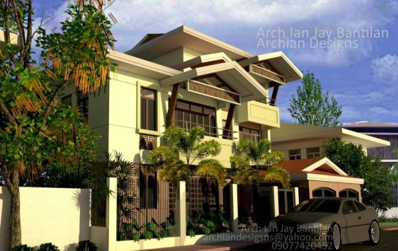 Classical Mediteranean Filipino Style House in Pavia Iloilo - 3 Storey - 6 Bedroom