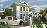 Blue Traditional Classical 2 Storey - 3 Bedroom House in Jaro, Iloilo