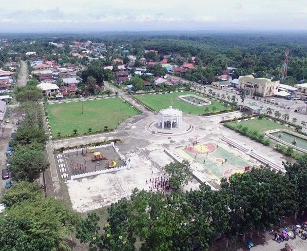 Existing Lambunao Municipal Hall, Cathedral and Plaza