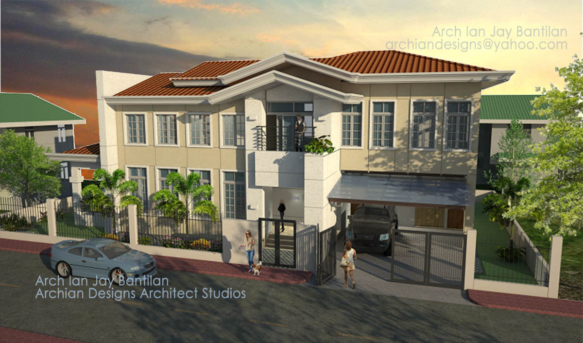 4 Bedroom Modern Mansion - Exterior of Large Classic Contemporary House - Iloilo Cebu Olongapo